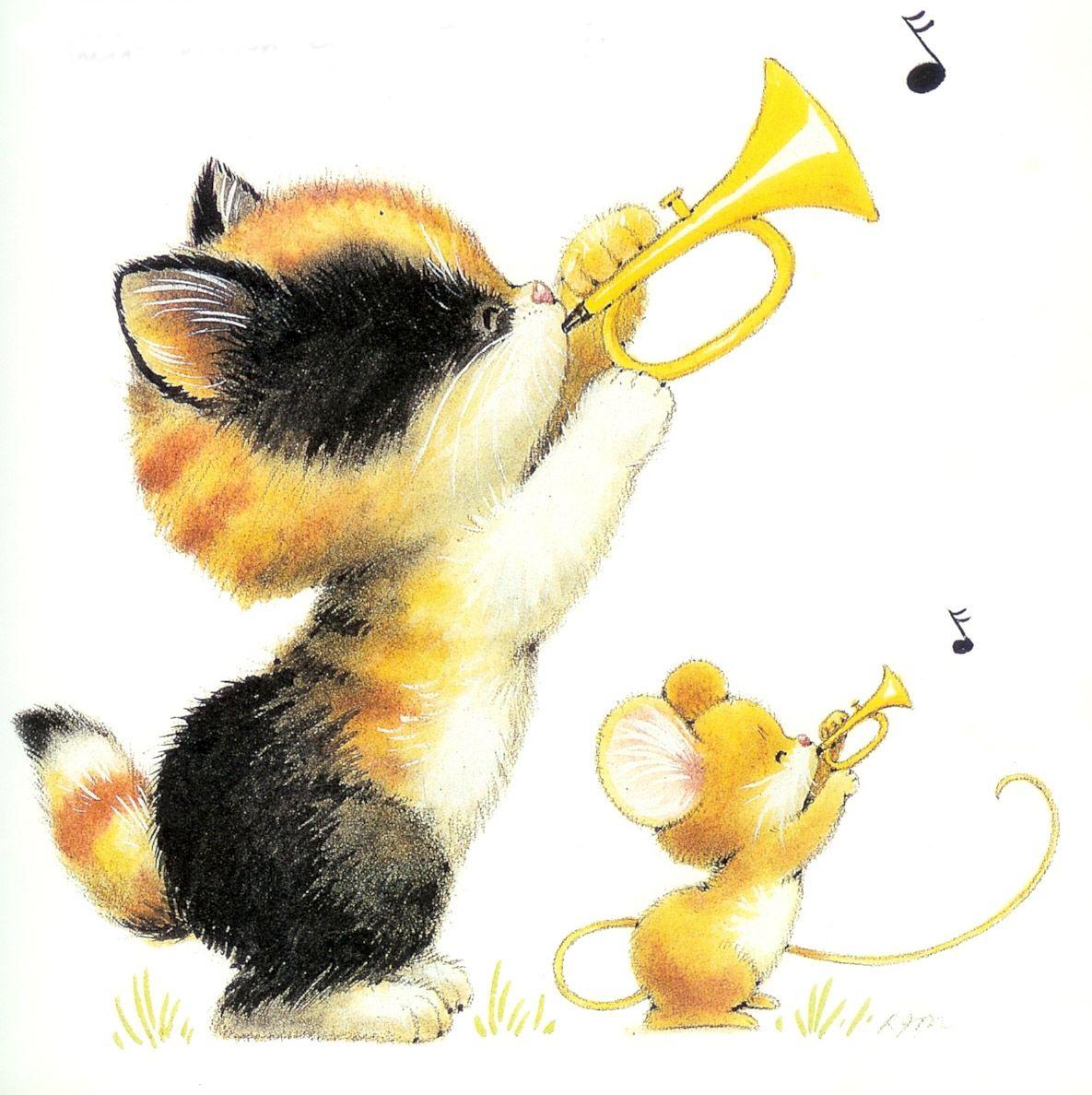 Gato Y Ratón Http Www Silvitablanco Com Ar Ruth Morehead Ruth Morehead Htm Cute Animal Illustration Cat Art Cute Pictures