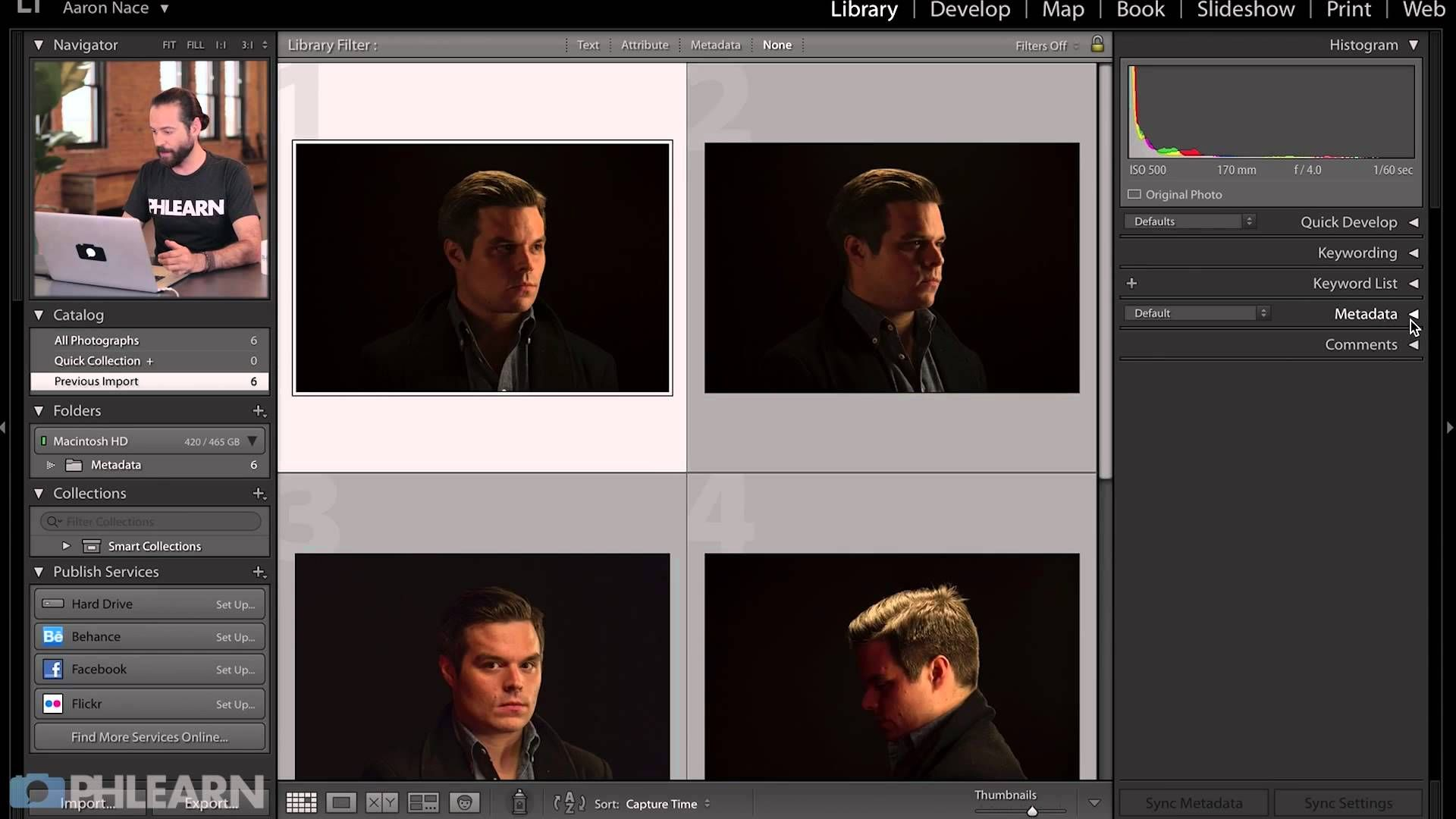 How to add metadata in lightroom