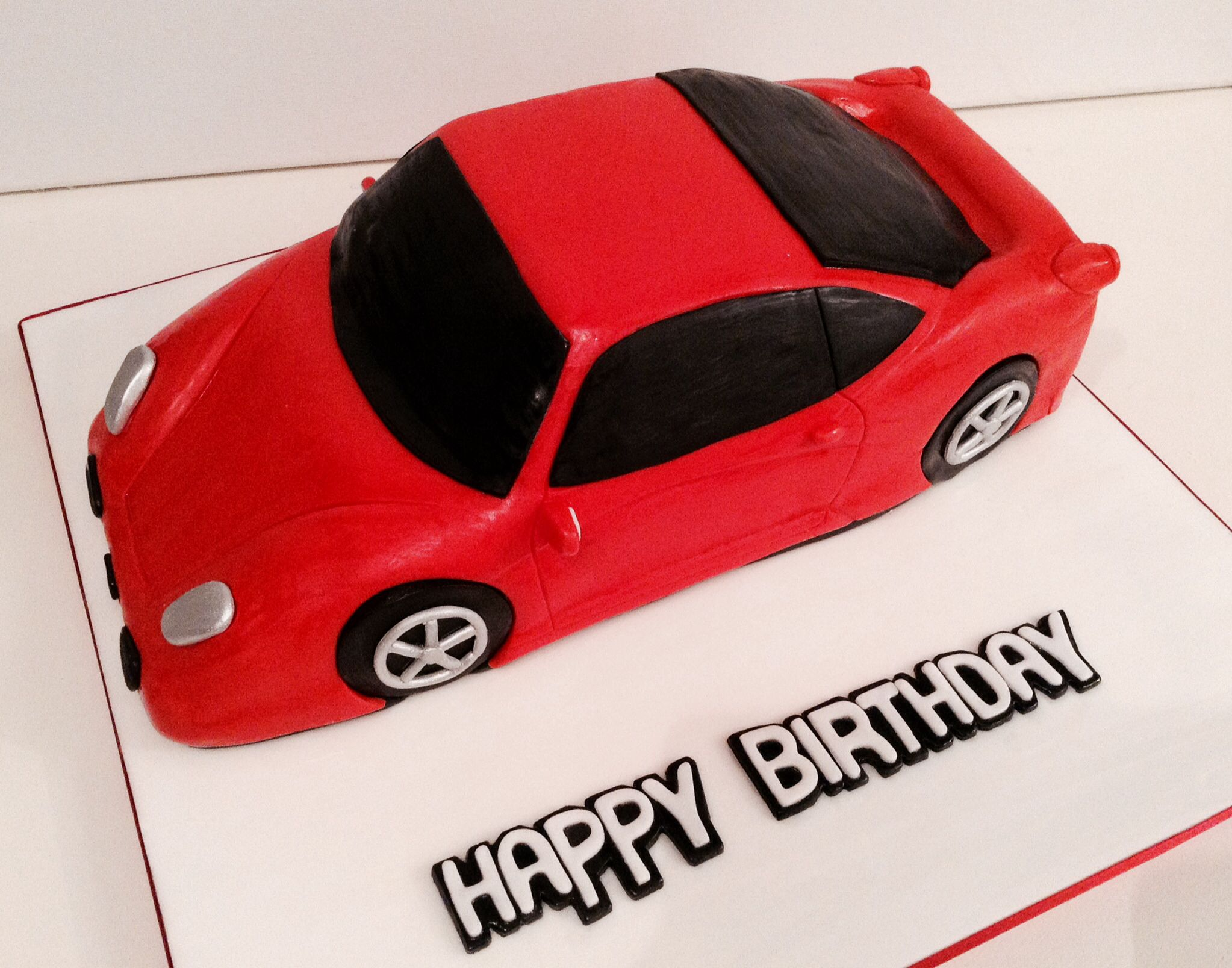 Ferrari Car Birthday Cake MENS CAKES GOODIES Pinterest