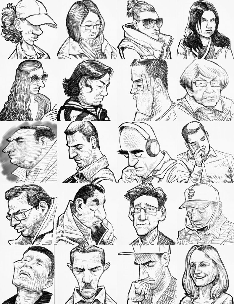 "There are few things more interesting than a mystery artist who draws people in public. After stumbling upon artist Hamilton Cline's series of BART and Muni sketches, we asked him a few questions about himself and his work! [media-credit name=""Hamilton..."