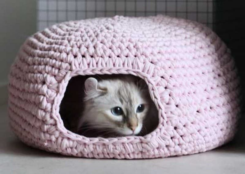 Crochet Cat Cave Lots Of Ideas Crochet Cats Cat Cave And Free Pattern