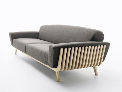 Das Sofa u201eHamperu201c von Passoni Nature Vorstellung Wand \ Beet - bett und sofa einem orwell projekt goula figuera