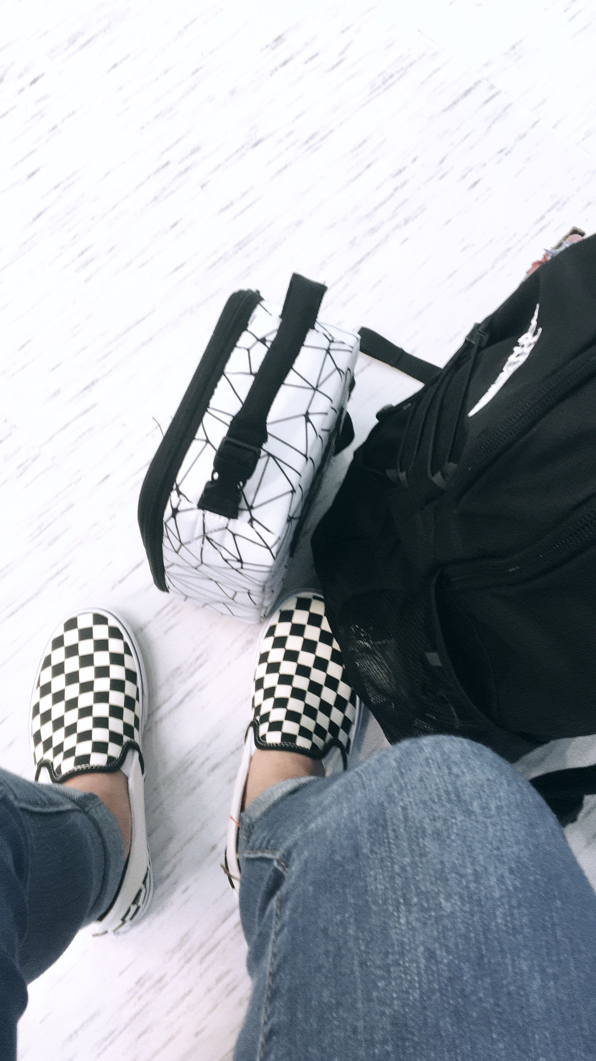 100% authentic db0d6 a8ece checkered vans  HAPPINESS  Pinterest  Fashion outfits, Vans