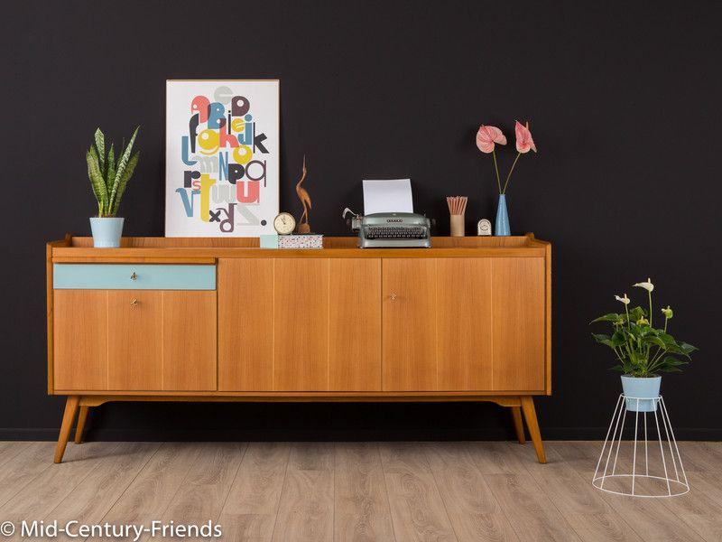 50er sideboard kommode vintage 60er mid century for Sideboard 50er