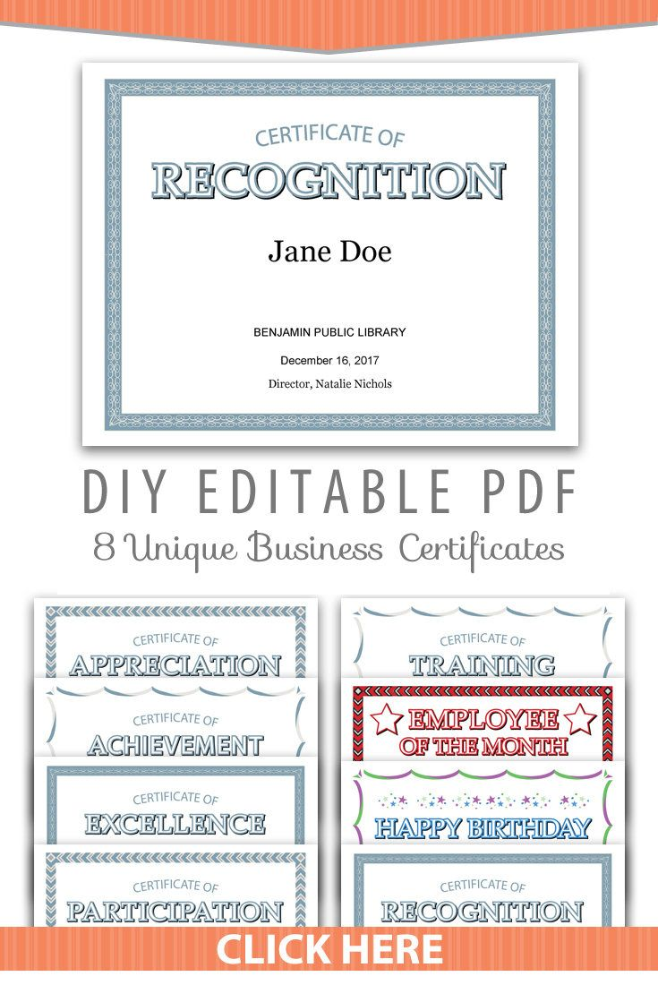 Unique Business Office Certificates Editable Pdf Team