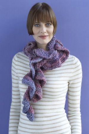 Free Crochet Pattern 80961AD Claudette Scarf : Lion Brand Yarn ...