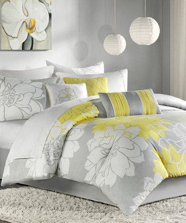 Another Great Find On Zulily Yellow Gray Elizabeth Duvet Set
