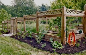 How to deer proof your garden 30 39 x 50 39 deer proof and groundhog proof garden with slate - Deer proof vegetable garden ideas ...