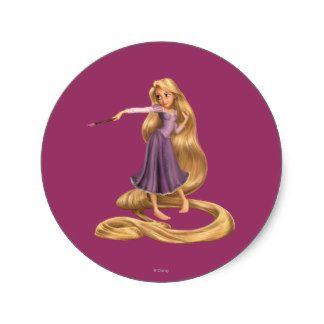 Rapunzel con la brocha 2 pegatina redonda