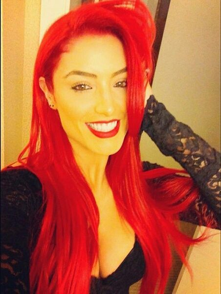 eva marie red hair. and makeup
