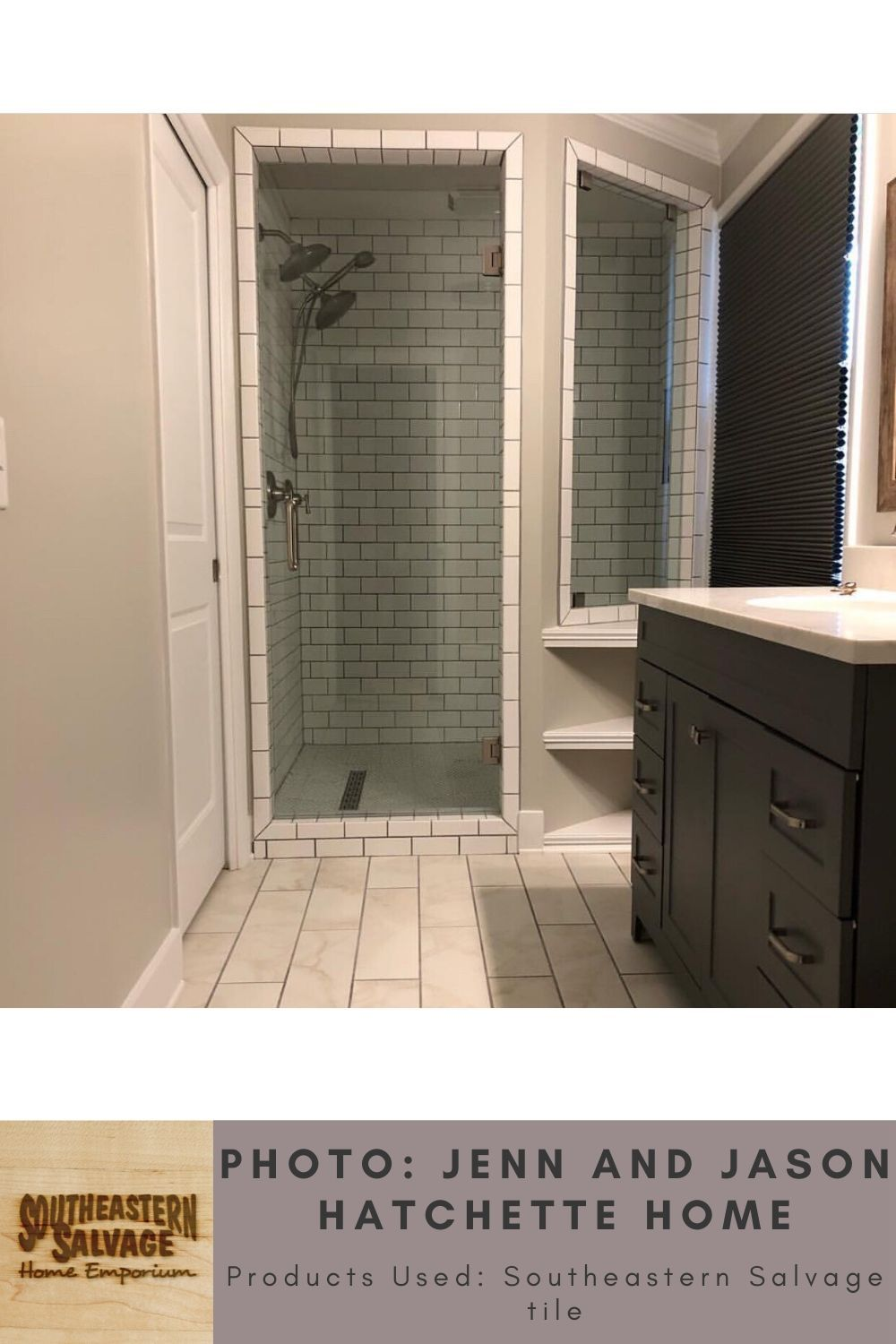 We Subway Tile And Porcelain Plank In 2020 House Styles Tiles Home