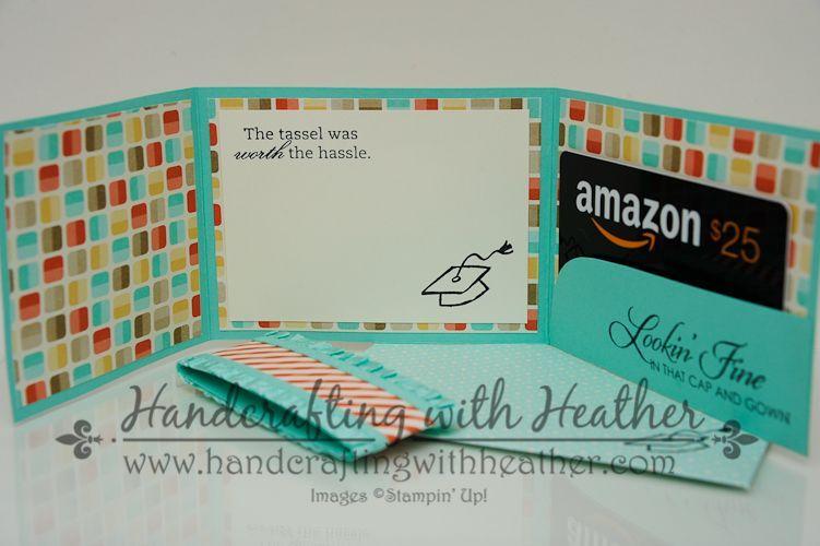 Retro Fresh Graduation Gift Card Holder - Stampin' Up!#card #fresh #gift #graduation #holder #retro #stampin