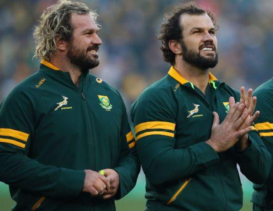 Go Bokke - Jannie Du Plessis and Bismarck Du Plessis.   Rugby ...