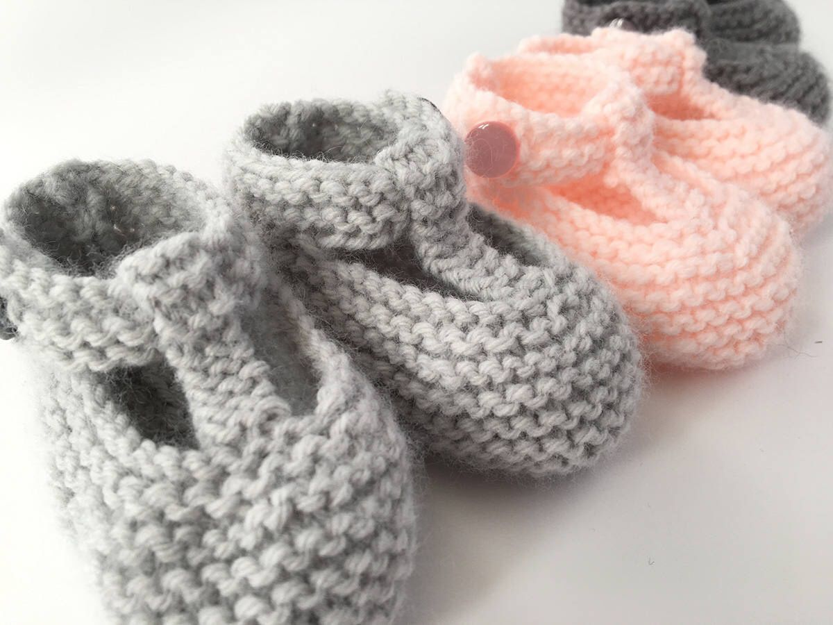 Baby Booties Knitting Pattern, Baby Shoes PDF Pattern, Instant ...