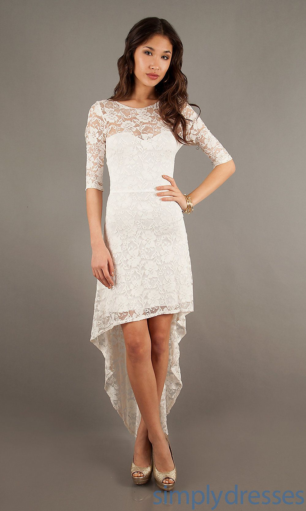 Dresses, Formal, Prom Dresses, Evening Wear: High Low Lace Dress ...