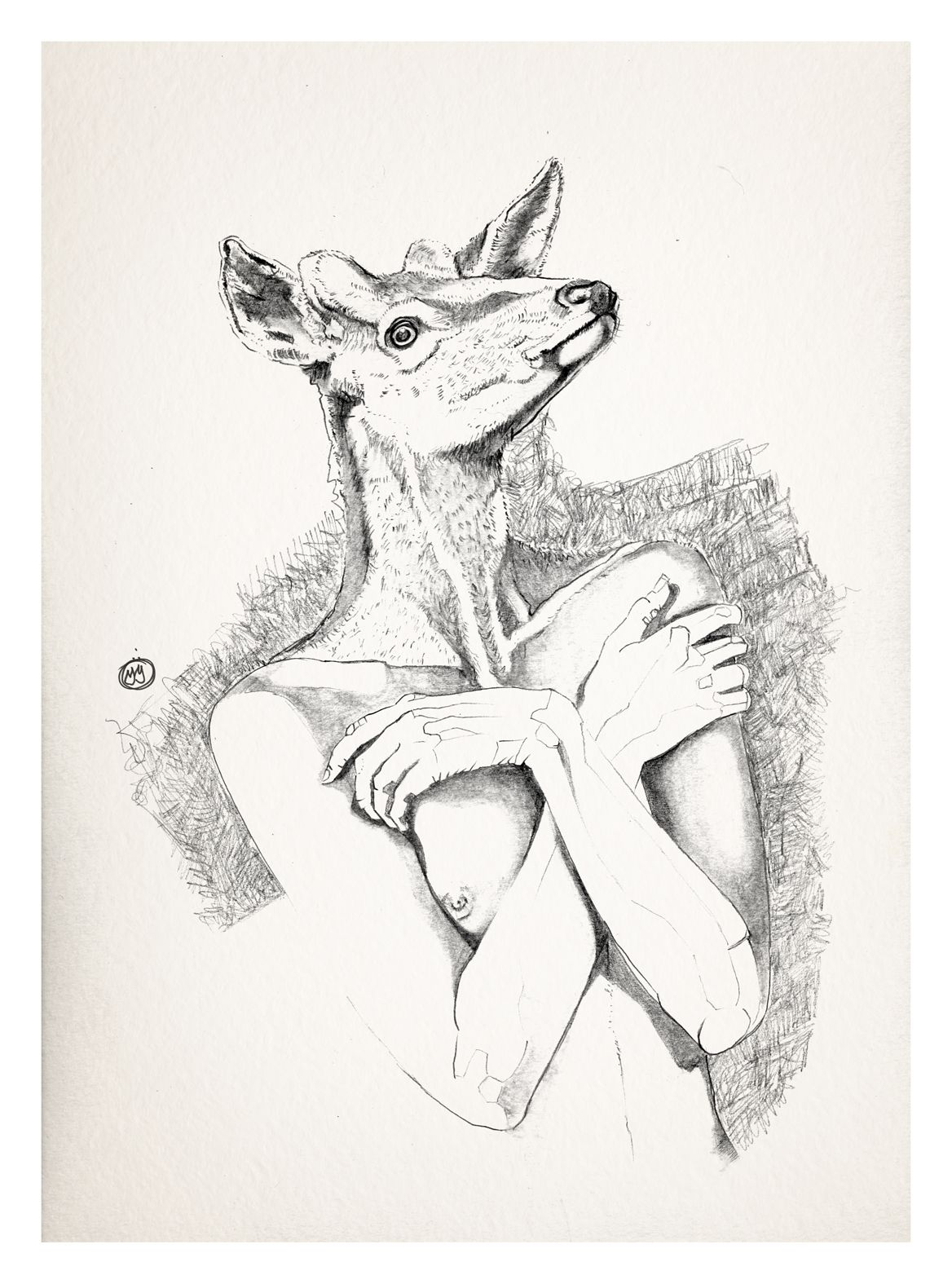 Bocetos chica cervatillo by Muzaloto.  #drawing