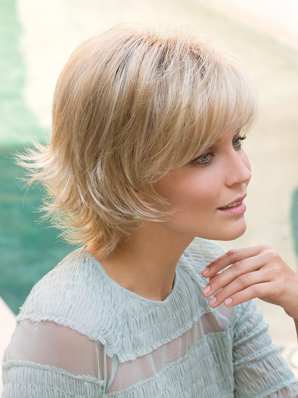 Sky synthetic wig basic cap hair pinterest dark blonde