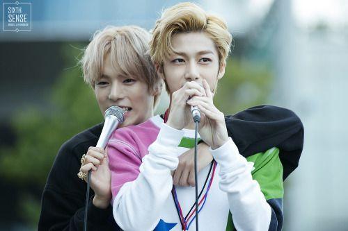 Monsta X Minhyuk & Hyungwon © sixth sense | do not edit.