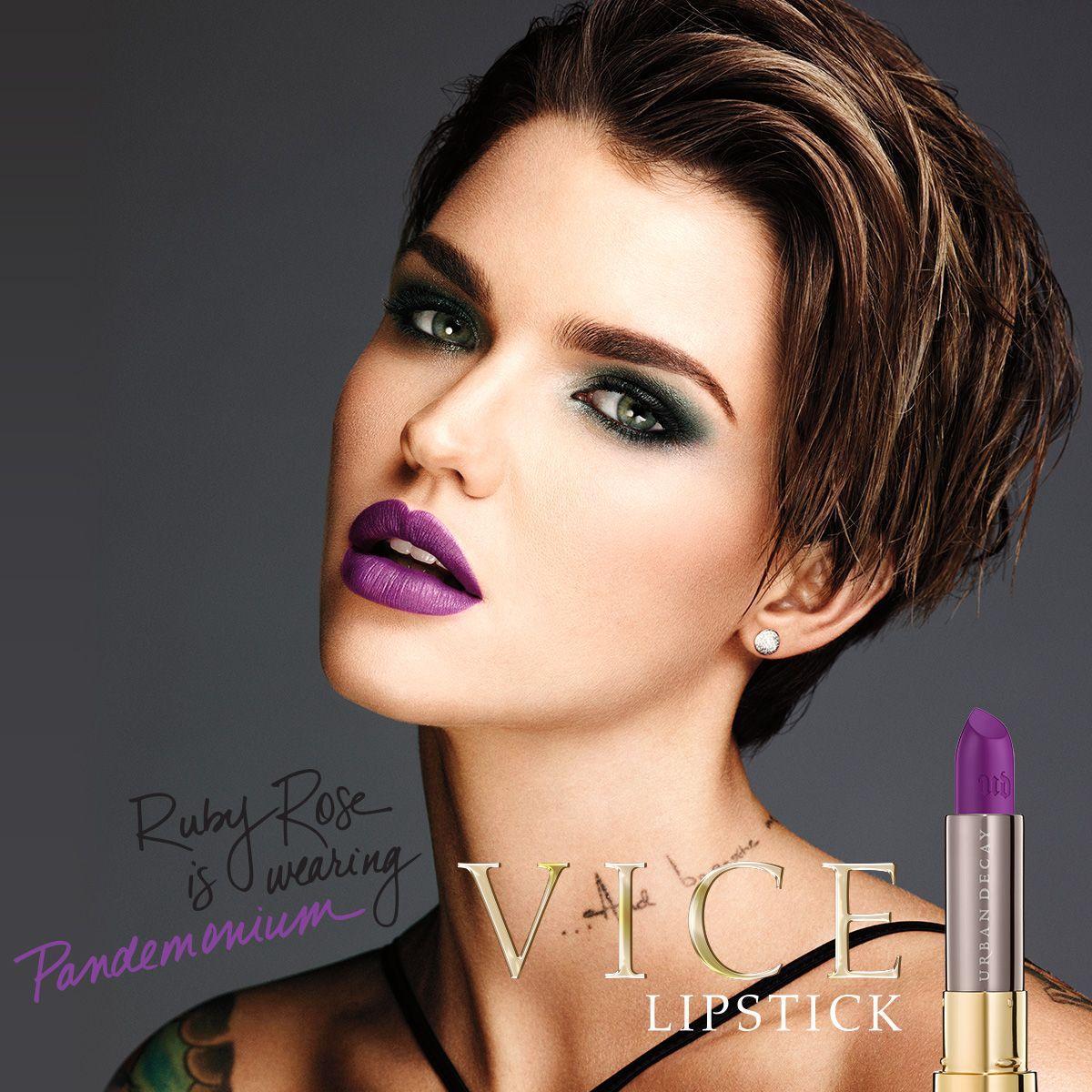 Vice Lipstick Ruby rose hair, Short hair styles, Hair styles