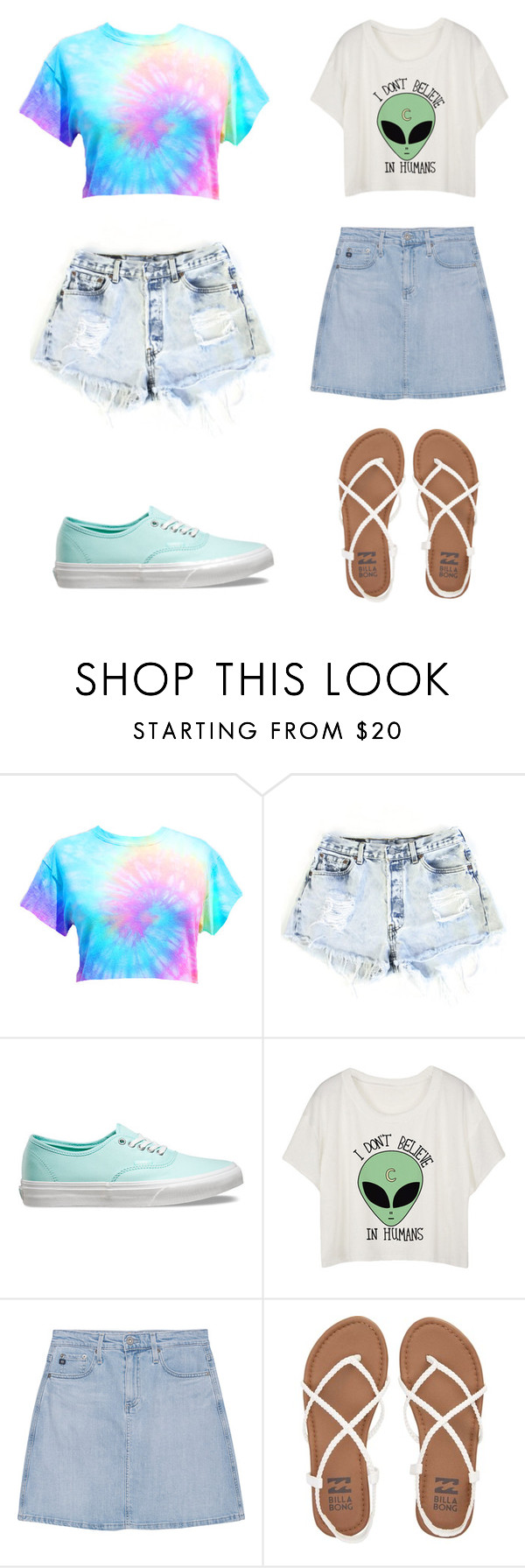 """""""Untitled #250"""" by puplove905 on Polyvore featuring Levi's, Vans, AG Adriano Goldschmied and Billabong"""