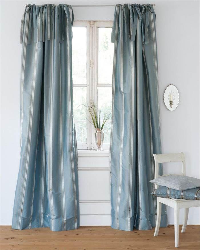 Vossberg De streifenvorhang pastellblau für sie vossberg de