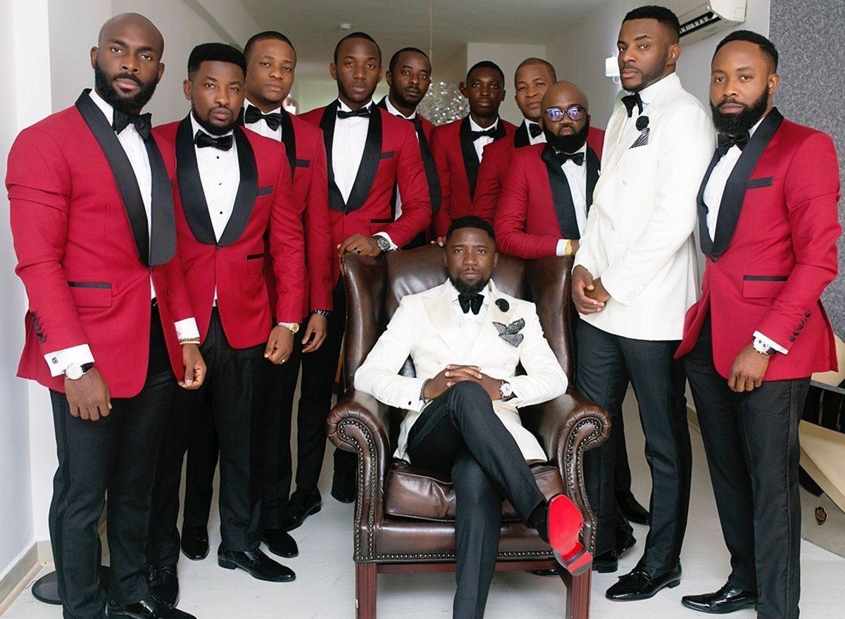 25+ Marvelous Red Black and White Wedding Tuxedo Ideas