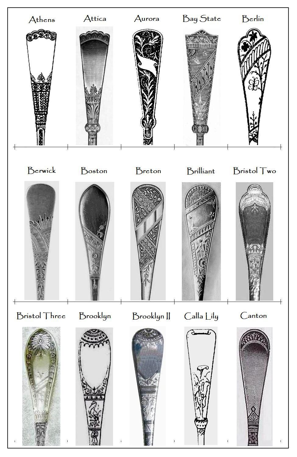 Some 19th Century Flatware Patterns Flatware And Patterns