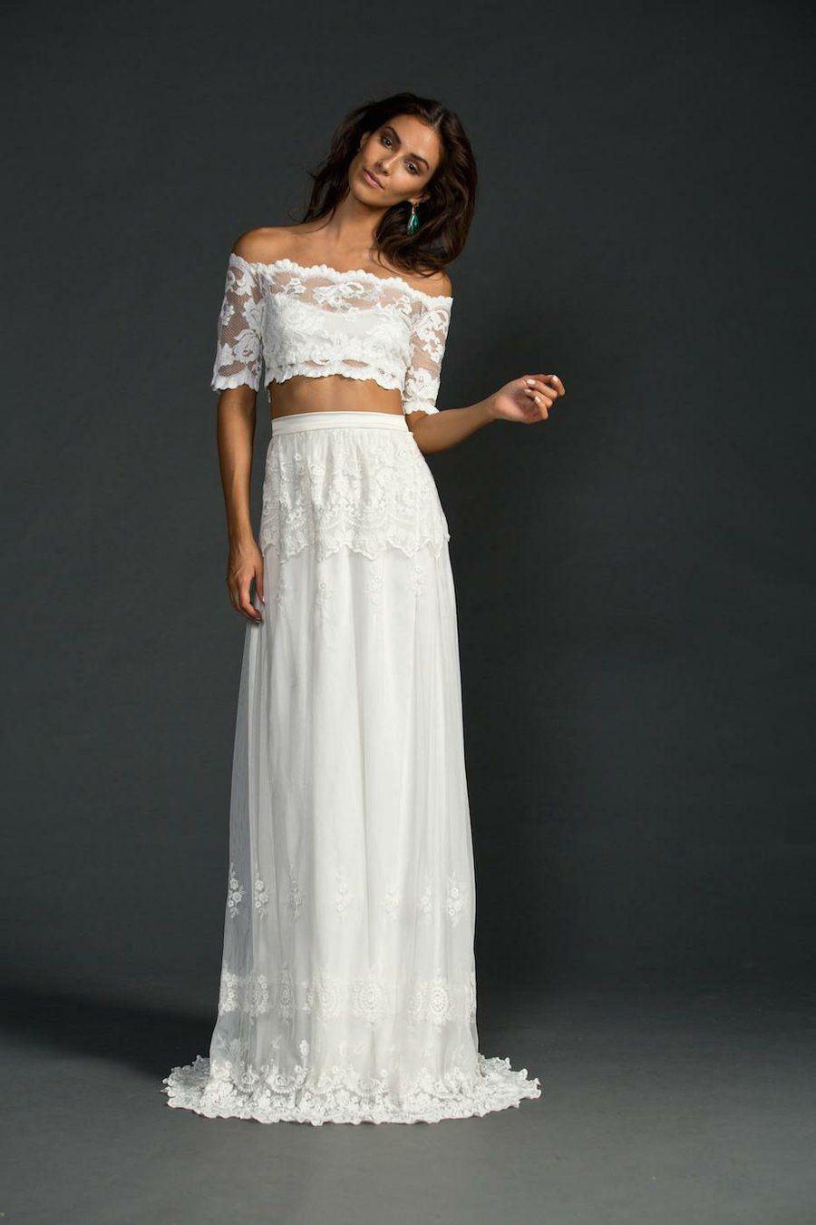 100 vestidos bohemios para novia. ¡Encontrarás el tuyo!  f3cd45f4c1d5
