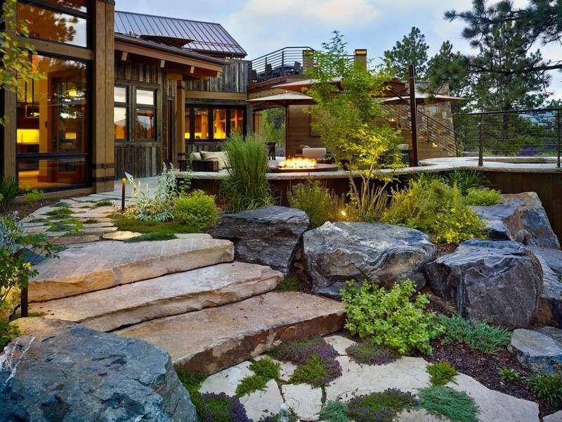 Maison de campagne moderne- idées sur l\'intérieur et le jardin ...