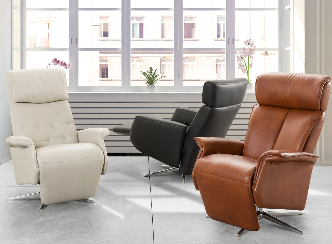 My New Design Fauteuil Relax En Cuir Blanc Et Chene Antares In 2020 Chaise Lounge Lounge Furniture