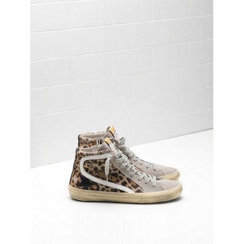 Nouveau Chaussures Golden Goose Slide Femme GGDB Slide Sneakers Leopard