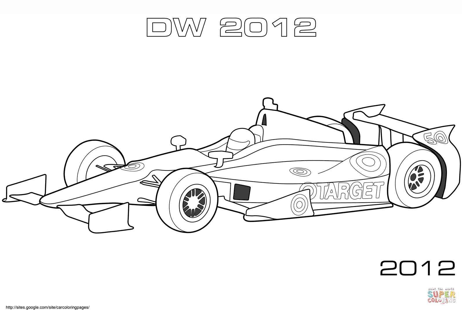 Dallara Dw12 Indy Car Coloring Pages Printable Race Car Coloring Pages Cars Coloring Pages Sports Coloring Pages