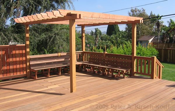 Image gallery deck arbors for Deck trellis