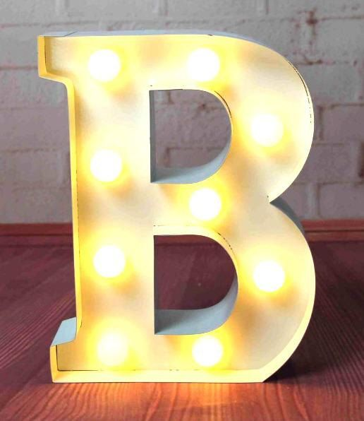 Carnival light up Letter Lights A to Z all by smithersofstamford