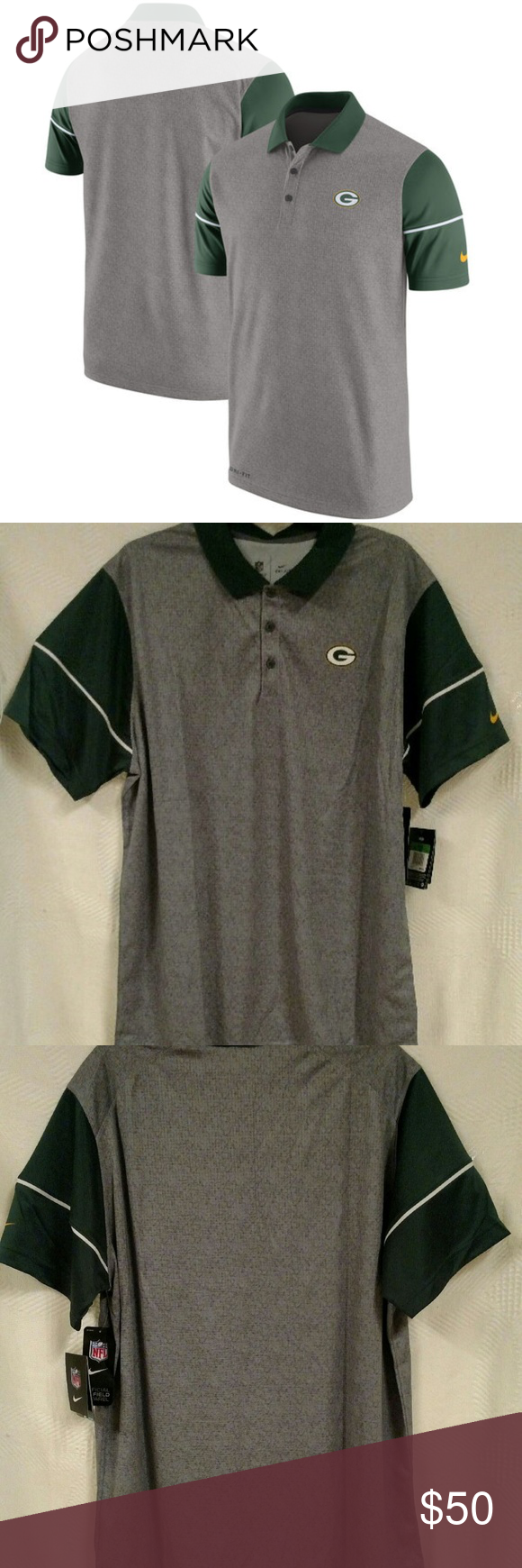 Green Bay Packers Womens Polo Shirts Lauren Goss