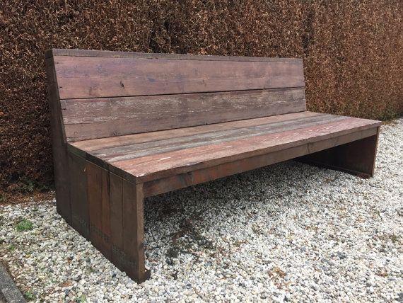 Scaffolding Wood Patio Bench By Simplicitydenn On Etsy Scaffolding Wood Wood Patio Patio Bench