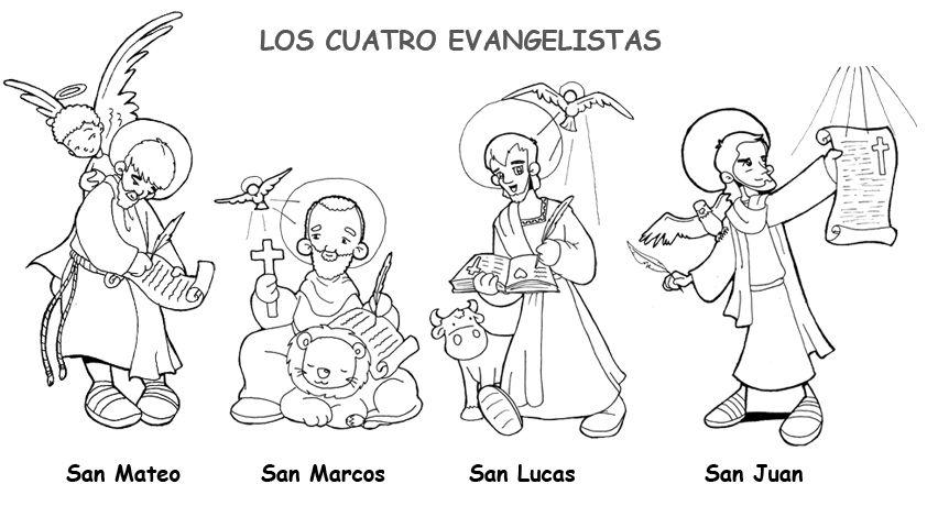 La Catequesis: Conocemos y coloreamos a los Cuatro Evangelistas