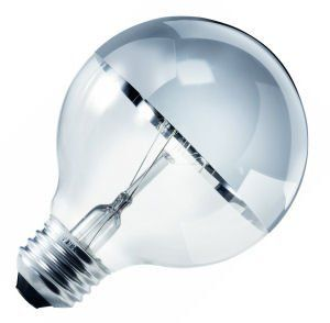 Sylvania 15638 40 WATT Decor Chrome Top Globe Bulb Clear Finish, Single by Sylvania. $888.00. From the Manufacturer                40 watt 120 volt G25 Medium Screw (E26) Base 2,850K Clear Chrome-Top Decor Globe Incandescent Sylvania Light Bulb                                    Product Description                FREE SHIPPING! on the 40 Watt Incandescent G25 Decor Light Bulb With Chrome Top Clear Finish Medium Base 120 Volt - 40G25/Ct120V, model number 15638, by Sy...