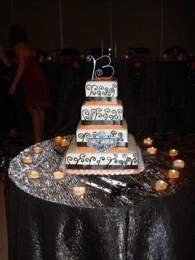 harley davidson wedding cakes wedding and reception ideas for brides and grooms from night and