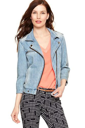 I finally bought this jacket and I can't stop wearing it. Best purchase of the summer! #gap