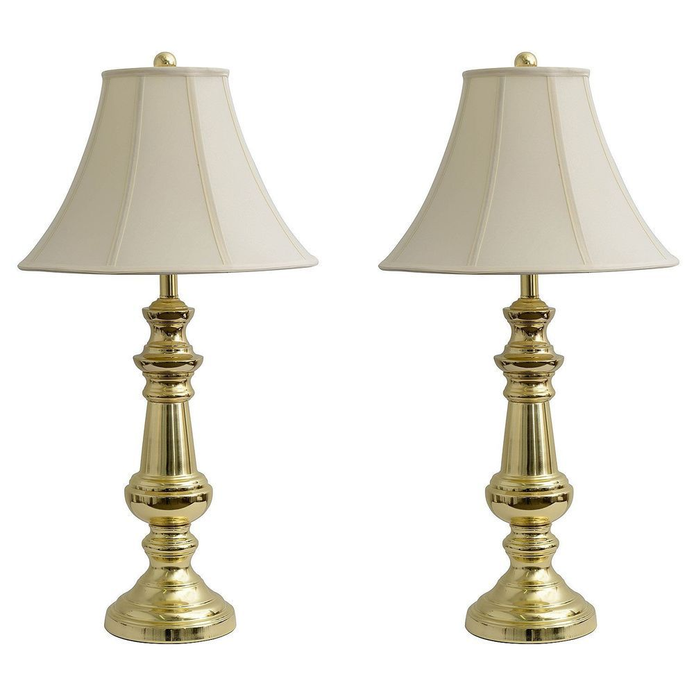 Jimco Lamp Co Polished Br 32 Table Lamps For Bedroom Set