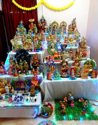 Navratri Craft Ideas Navarathri Golu Pinterest Craft Dolls And Doll Display