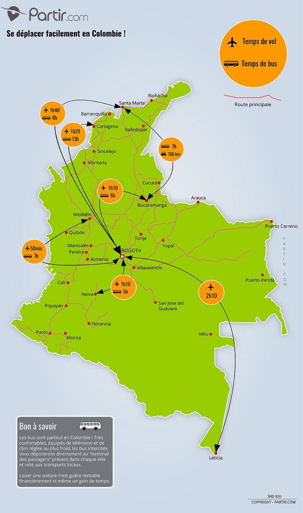 Carte Colombie Distance Et Trajet Carte Colombie Voyage