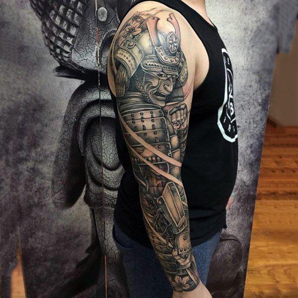 Top 103 Samurai Mask Tattoo Ideas 2020 Inspiration Guide Sleeve Tattoos Full Sleeve Tattoos Tattoo Sleeve Men