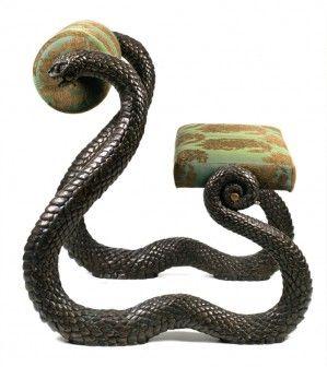 A Bronze Snake Chair Frightening Goth Shopaholic