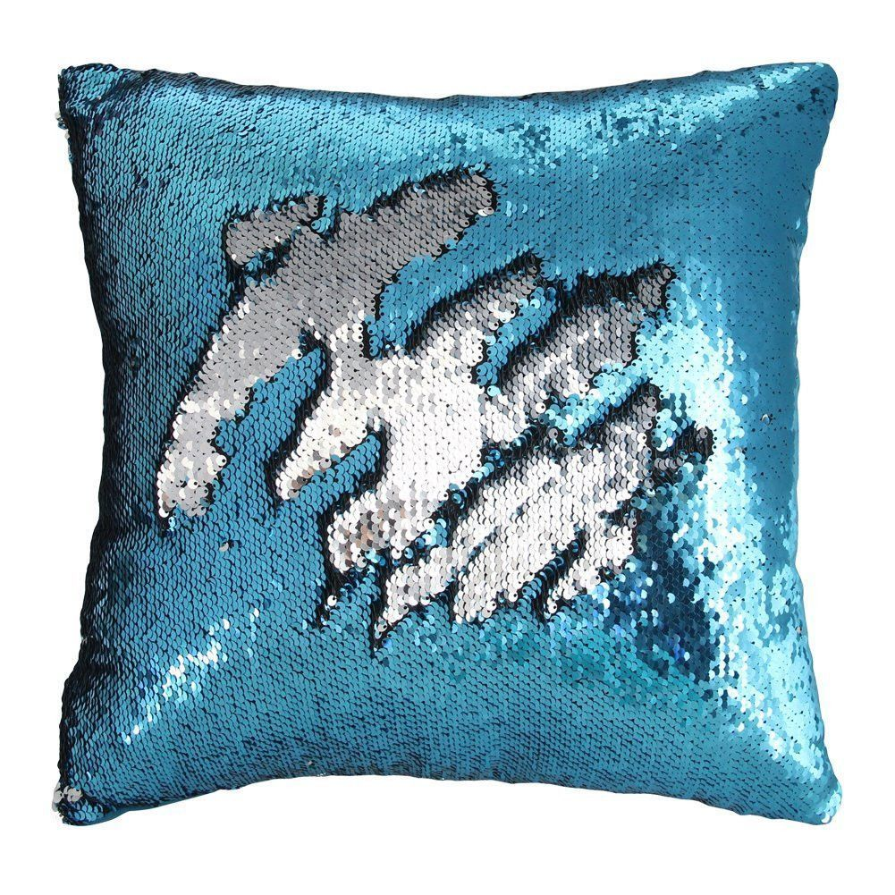 Mermaid Pillow Case Play Tailor Magic Reversible Sequin Pillow Cover Throw Cushion Case 40x40cm Mermaid Pillow Sequin Pillow Throw Cushions