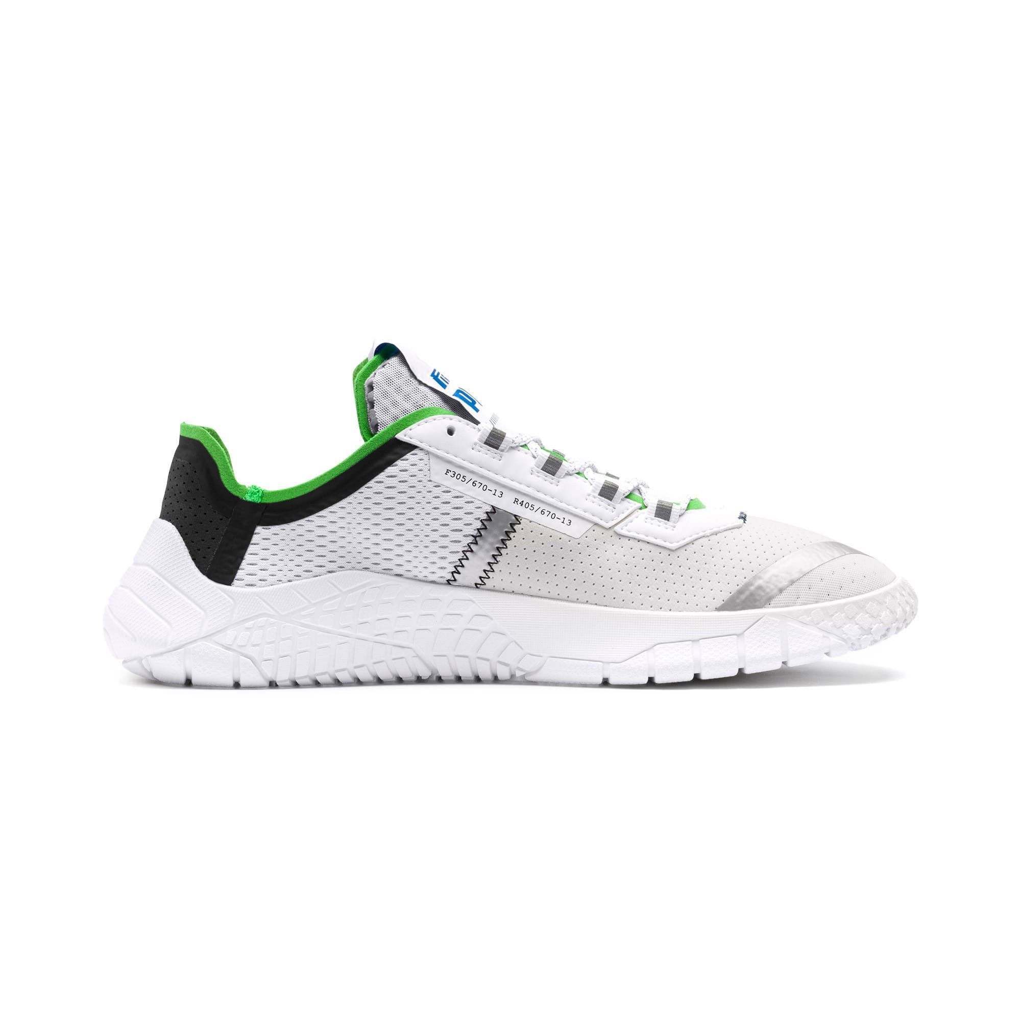 Photo of PUMA Pirelli Replicat-X Trainers,  White/Black/Classic Green, size 10.5, Shoes