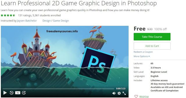 100 free udemy course learn professional 2d game graphic learn professional game graphic design in photoshop udemy free coupon off filed under design free game development photoshop udemy fandeluxe Images