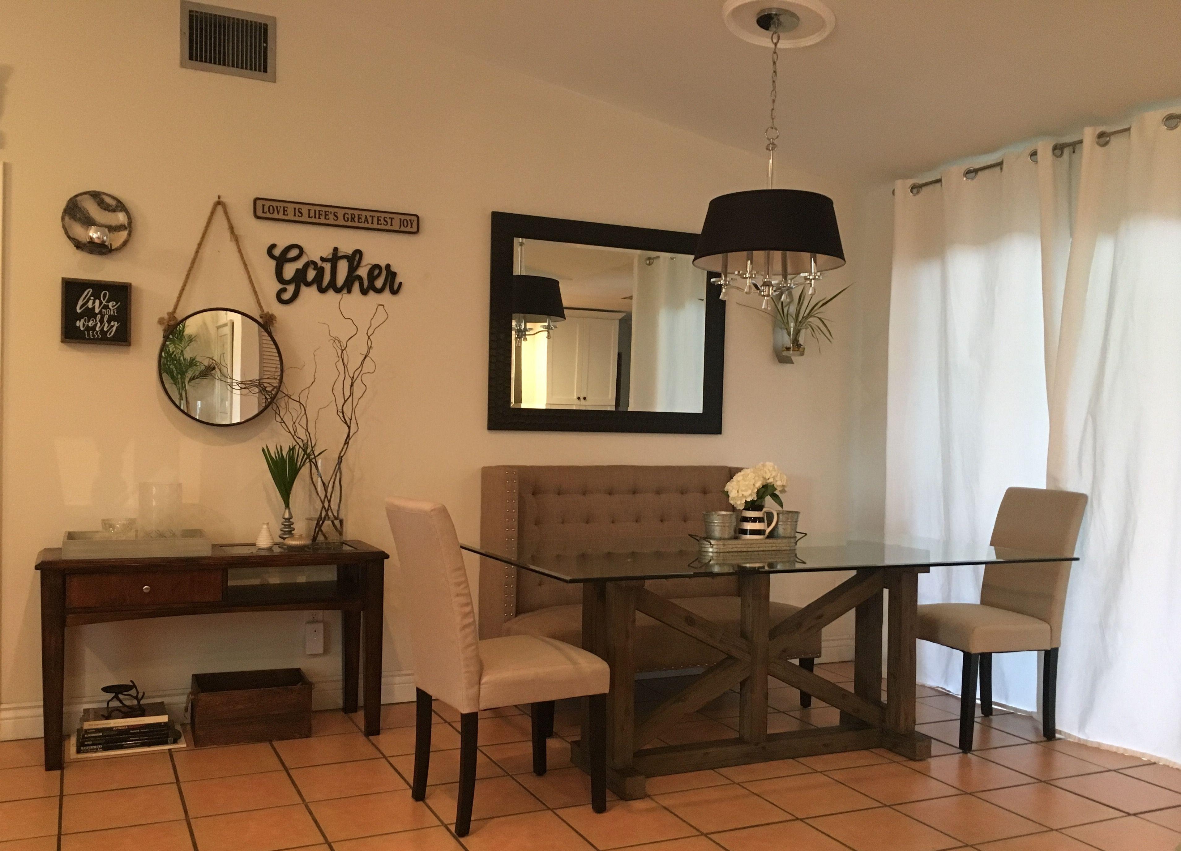 Rustic modern farmhouse cozy dining decor eclectic contemporary