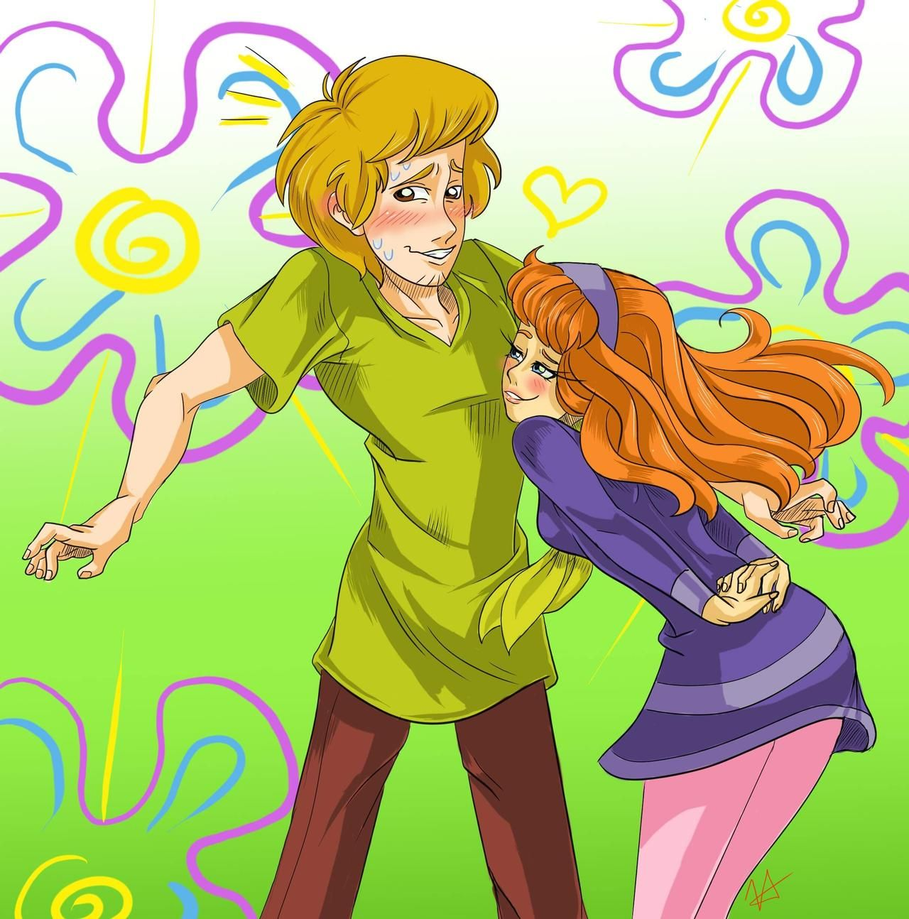 Pin on Shaggy, Daphne and Scobby(Shaphne)